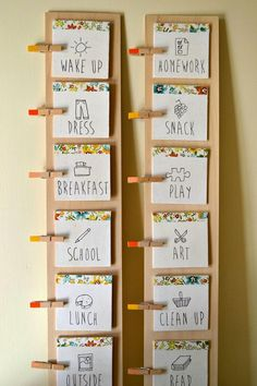 """PIC ONLY - love the use of clothes pins and """"fancy"""" paper"""