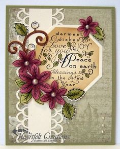 Heartfelt Creations | Love Joy Peace Card