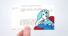Picasso Woman on Library Card  Print of painting
