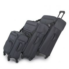 Carry-tow™ is our very own set of family friendly luggage, designed to take the strain out of traveling with younger children.       The simple locking system will connect any one of 3 cases to each other, enabling you to pull 2 or 3 cases with one trolley handle.  Soft, easy grab handles and trolley system Available in 3 sizes and multiple colors.  Body Material	 Polyester  Frame Material	 Plastic  Warranty	 10 Years  Style Ref	 12-0682-009
