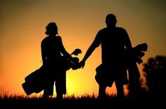 One day I will golf with the hubby ....