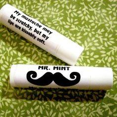 mustache chapstick