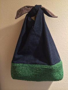 Handmade 巾着(kin-chaku) style bag.* ༺✿ƬⱤღ✿༻