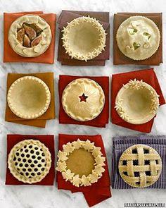 Pie crust ideas...if i ever make a pie