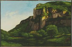 Gustave Courbet Poster - Rocks At Mouthier