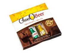 ChocOBeer – Boite cadeau – petites bouteilles en chocolat à la bière belge – 100 g: La boite cadeau ChocOBeer de 100 g contient 8 petites…