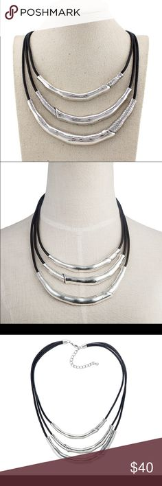 BRIMA SILVER BAMBOO FASHION STATEMENT NECKLACE*NWT BRIMA SILVER BAMBOO FASHION STATEMENT NECKLACE*NWT*  alloy metal . New and unopened packaging. THINK VINTAGE ONLINE  Jewelry Necklaces