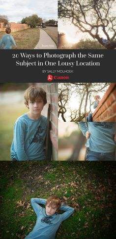 20 Ways to Photograph the Same Subject in One Lousy Location Photography Lessons, Photography Camera, Photography Projects, Photography Business, Photography Tutorials, Creative Photography, Digital Photography, Children Photography, Family Photography