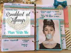 Plan With Me | TDS Planner | BREAKFAST AT TIFFANY'S THEME - YouTube