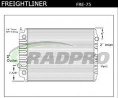 Plastic Aluminum, Freightliner / Oshkosh Radiator, OEM#'s: 310010, 310010ST, 3110, S3110, S3110PA, 239171, SCSI239171, TR9171, CR9171, 559171, 557184SPL, FLX001010, VAB1003345, VAB1040079, VAB1101934, FRE75