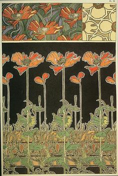 Flowers by Alphonse Mucha.