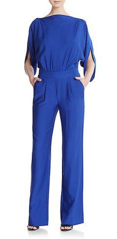 Diane Von Furstenberg | Dezi Stretch Silk Jersey Jumpsuit | SAKS OFF 5TH