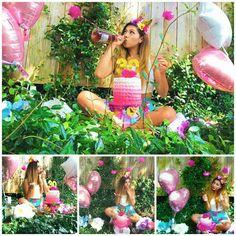 Cake smash #dirty30 #park #pinkchampagne