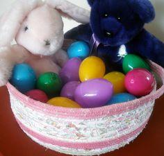 Oversized Easter Basket by StitchedByMary on Etsy