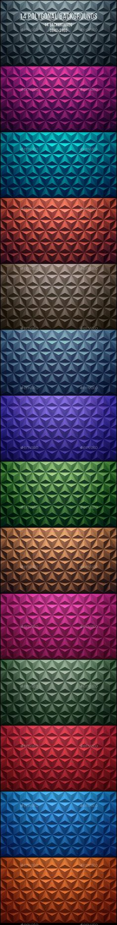 14 Polygonal Backgrounds. Download here: http://graphicriver.net/item/14-polygonal-backgrounds/15023644?ref=ksioks