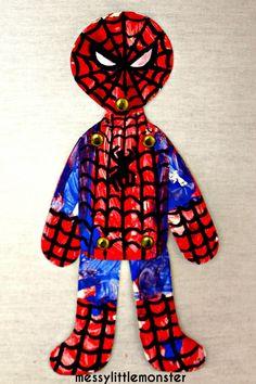 Messy Little Monster: Split Pin Spiderman Craft Activity