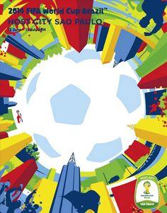Sao Paulo | Afiches de las Sedes del Mundial Brasil 2014 » AguantenChe.com.uy