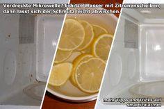 So reinigst du die Mikrowelle mit wenig Aufwand und ohne Chemie