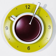 Coffee Cup Wall Clock Green, 9€, now featured on Fab.