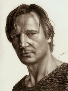 Liam Neeson. How To Draw Hyper Realistic Drawings We have 10 teaching videos from Ambro Jordi, for you to learn from. More information and more images from this Artist, Press the Image.