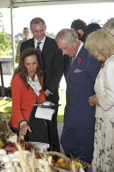 Prince Charles and Duchess Tasting Monet