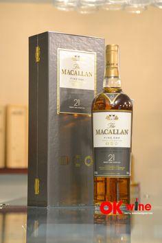 Виски Макаллан Файн Оак / Macallan Fine Oak, 21 год, 43%, 0.7л, в коробке