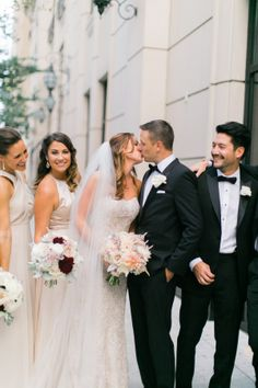 David's Bridal bride Kristina in a strapless beaded fit and flare Galina Signature wedding gown at her Chicago city wedding.