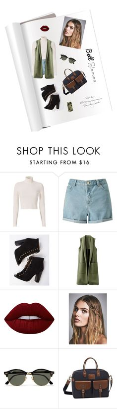 """a."" by netvett ❤ liked on Polyvore featuring A.L.C., Miss Selfridge, Lime Crime, Free People, Ray-Ban, Longchamp and Casetify"
