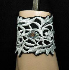 Lace Bracelet Black Bracelet Victorian by AyansiWeddingDesigns, $22.00