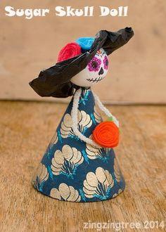Haz tú mismo/a esta muñeca. | 41 actividades del Día de los Muertos, para toda la familia