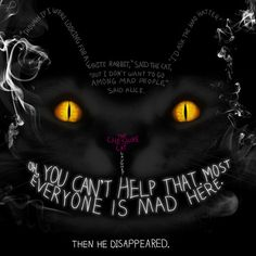 Alice in Wonderland - Cheshire Cat Lewis Carroll, Go Ask Alice, Dear Alice, Alice Book, Chesire Cat, Alice Madness Returns, Were All Mad Here, Adventures In Wonderland, The Villain