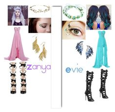 """""""Zanya and Evie outfit"""" by eviehartleytull on Polyvore featuring Gucci, Cult Gaia, Rut&Circle, Juliet & Company, Giuseppe Zanotti, White Label, women's clothing, women, female and woman"""