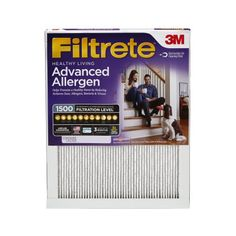 Filtrete Healthy Living Advanced Allergen Reduction Hvac Furnace Air Filter, 1500 MPR, 18 x 30 x Pack of 4 Filters Air Return, Smoke Damage, Furnace Filters, Air Pollution, Air Filter, At Least, Healthy Living, How Are You Feeling, Raw Food