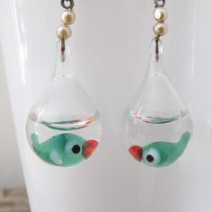 Fishbowl earrings