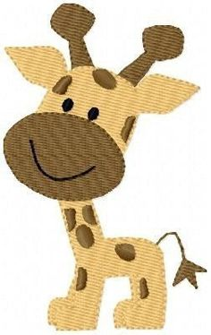Giraffe Baby Machine Embroidery Design. $4.00, via Etsy.