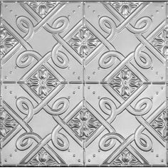 Detailed image and size for the Bluebells pressed metal panel. Tis design is suitable for ceilings, walls and splashbacks. Ceiling Panels, Ceiling Tiles, Metal Ceiling, Pressed Metal, Metal Panels, Ceiling Rose, Splashback, Arts And Crafts, Ceilings