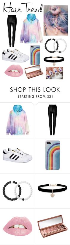 """""""Unicorn Hair"""" by gpandgp ❤ liked on Polyvore featuring Zeynep Arçay, adidas, Marc Jacobs, Lokai, Betsey Johnson and Urban Decay"""