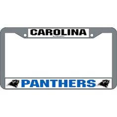 Carolina Panthers Chevron Acrylic Laser Cut Plate
