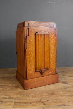 Art Deco Pedestal Cabinet.