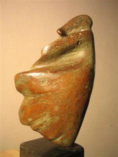 Bronzen beelden - Vrouw in de wind