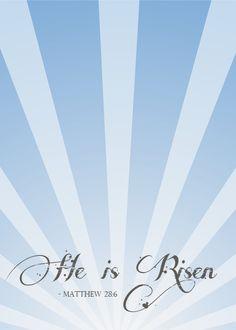 He is Risen Easter Printable via cherishedbliss.com
