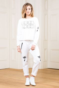 Jungle Boogie, Palm Trees, White Jeans, Graphic Sweatshirt, Sweatshirts, Sweaters, Pants, How To Wear, Collection
