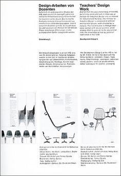 otl aicher. herman miller    Serie of 3 adverts designed by Otl Aicher and Tomas Gonda for Herman Miller.  Ulm journal. Issue 6