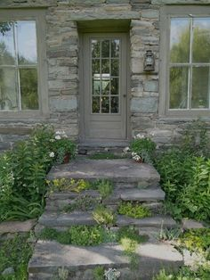 like the plantings growing in the stone steps