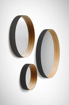 58cm £250 (smaller sizes); http://www.twentytwentyone.com/ via http://howtospendit.ft.com/home-accessories/7371-mirror-round-mirror-perfect-on-the-wall