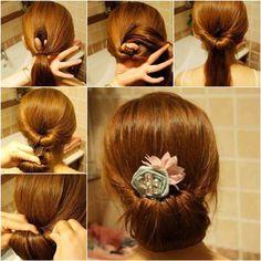 How to DIY Easy Twisted Hair Bun Hairstyle | iCreativeIdeas.com Like Us on Facebook == https://www.facebook.com/icreativeideas
