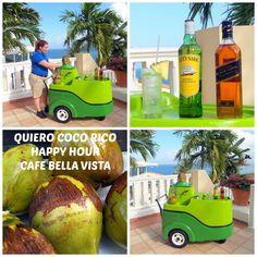Enjoy fresh coconut water with a little kick during your next stay at El Conquistador Resort & Las Casitas Village.  Puerto Rico - ElConResort.com