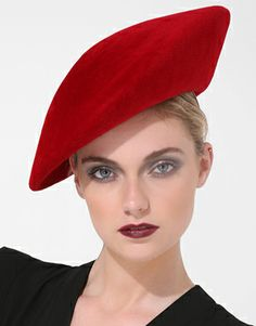 Philip Treacy - Extended Beret Hat #millinery #beret #judithm