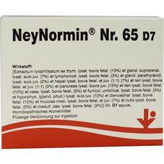 NEYNORMIN Nr.65 D 7 Ampullen:   Packungsinhalt: 5X2 ml Ampullen PZN: 06487227 Hersteller: vitOrgan Arzneimittel GmbH Preis: 42,86 EUR…