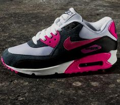 Nike WMNS Air Max 90 Essential – White / Black – Pink